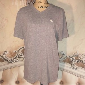 Boys Abercrombie & Fitch Gray V Neck Tee